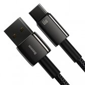 Adapteris Baseus Tungsten Gold iš USB į Type-C 66W 2m juodas CATWJ-C01