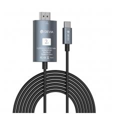 "Adapteris Devia Storm ""Type-C""-HDMI juodas"