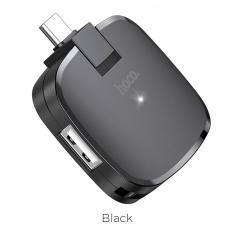 """Adapteris HB11 iš """"Type-C"""" į 3X USB juodas"""