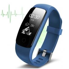 Išmanioji apyrankė su širdies ritmo matuokliu, mėlyna