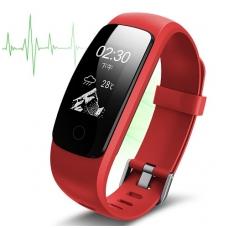 Išmanioji apyrankė su širdies ritmo matuokliu, raudona