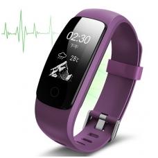 Išmanioji apyrankė su širdies ritmo matuokliu, violetinė