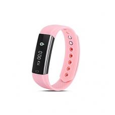 Išmanusis laikrodis su širdies ritmo matuokliu, rožinis