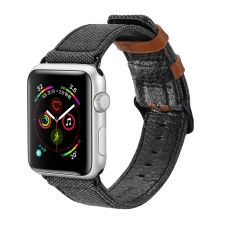 "Apyrankė Dux Ducis ""Casual Version"" 42/44mm Apple Watch juoda"