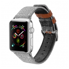"Apyrankė Dux Ducis ""Casual Version"" 42/44mm Apple Watch pilka"