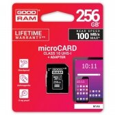 Atminties korta Goodram microSD 256Gb (class 10) + SD adapter