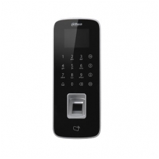 Atstuminių kortelių pirštų skaitytuvas + kontroleris + klaviatūra, RJ45,  Wiegand, RS-485