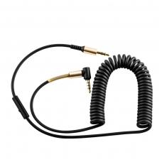 Audio adapteris 3,5mm į 3,5mm HOCO UPA02 AUX su mikrofonu juodas