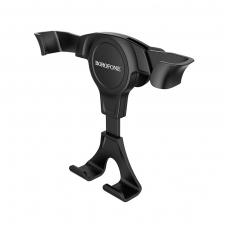 Automobilinis Universalus telefono laikiklis Borofone BH9 juodas, tvirtinamas ant ventiliacijos grotelių