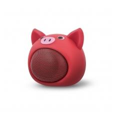 Bluetooth nešiojamas garsiakalbis Forever Sweet Animal Pig ABS-100 rožinis