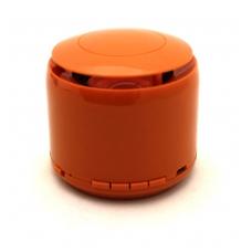 Bluetooth nešiojamas garsiakalbis J-18 (USB, MicroSD, laisvų rankų įranga, radijas, AUX, LED) oranžinis