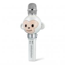 Bluetooth nešiojamas garsiakalbis mikrofonas Forever Animal AMS-100 baltas