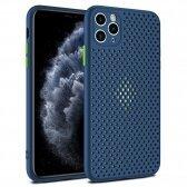 Apple iPhone 11 dėklas Breath Case tamsiai mėlynas
