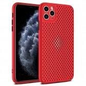 Apple iPhone XR dėklas Breath Case raudonas