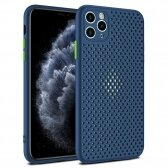 Apple iPhone XR dėklas Breath Case tamsiai mėlynas