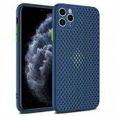 Apple iPhone X/XS dėklas Breath Case tamsiai mėlynas