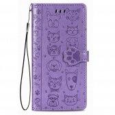 Xiaomi Redmi 9 dėklas Cat-Dog purpurinis