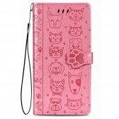 Xiaomi Redmi 9 dėklas Cat-Dog rožinis