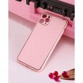 Samsung A51 A515 dėklas Gold Line rožinis