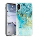 Samsung A31 dėklas Marble mėlynas