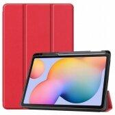 Lenovo Tab M10 Plus X606 dėklas Smart Leather raudonas