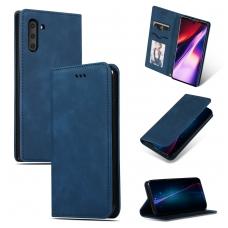 """Samsung A505 A50 dėklas """"Business Style"""" tamsiai mėlynas"""