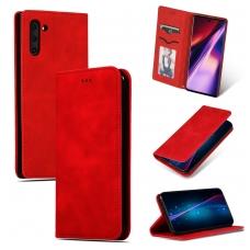 """Samsung N975 Note 10 Plus dėklas """"Business Style"""" raudonas"""
