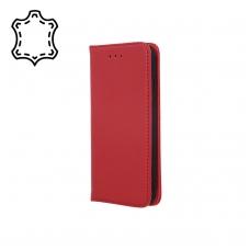 """Huawei P Smart Z/Y9 Prime 2019 dėklas iš natūralios odos """"Smart Pro"""" bordo"""