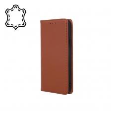"""Huawei P Smart Z/Y9 Prime 2019 dėklas iš natūralios odos """"Smart Pro"""" rudas"""