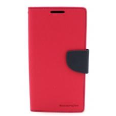"""Samsung G928 S6 Edge Plus dėklas Mercury Goospery """"Fancy Diary"""" koralo spalvos/tamsiai mėlynas"""