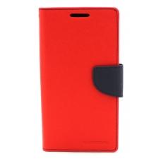"""Dėklas Mercury Goospery """"Fancy Diary"""" Sony E6553 Xperia Z3+ raudonas/tamsiai mėlynas"""