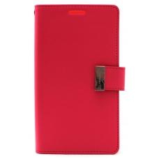 """Samsung G920 S6 dėklas Mercury Goospery """"Rich Diary"""" koralo spalvos/rožinis"""