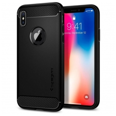 "Apple iPhone 11 dėklas ""Spigen Rugged Armor"" juodas"