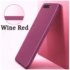Huawei Mate 30 Lite dėklas X-Level Guardian vyno raudona