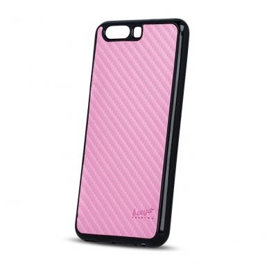 "Huawei P8 Lite 2017/P9 Lite 2017 dėklas Beeyo ""Carbon"" rožinis"