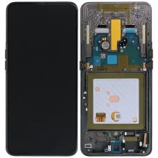 Ekranas Samsung A805 A80 su lietimui jautriu stikliuku juodas originalus (service pack)