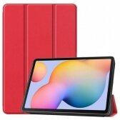 Huawei MediaPad T5 10.0 dėklas Smart Leather raudonas