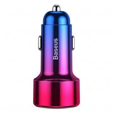 Įkroviklis automobilinis Baseus Magic PPS su LED ekranu +USB jungtimi Quick Charge 4.0 + Type-C PD raudonas