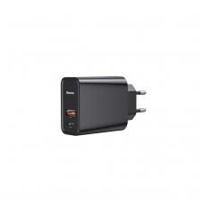 """Įkroviklis buitinis """"Baseus"""" PPS QC USB + PD 30W juodas pakuotėje"""