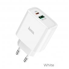 Įkroviklis buitinis HOCO C57A USB Quick Charge 3.0 + PD baltas