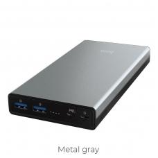 Išorinė baterija Power Bank Hoco B39 Type-C PD+Quick Charge 3.0 (3A) su LCD ekranu 30000mAh metalinis pilkas