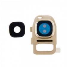 Kameros stikliukas Samsung G930 S7/G935 S7 Edge auksinis ORG
