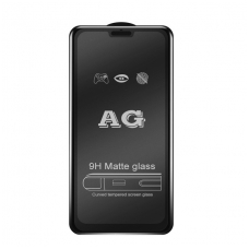"Xiaomi Mi A3 LCD apsauginis stikliukas ""5D Matte Glass"" lenktas juodas"