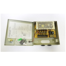 Maitinimo šaltinis metaliniame korpuse 35W, 12V, 3A, 4 išėjimai, skirtas vaizdo stebėjimo sistemai