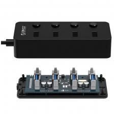Šakotuvas ORICO USB W9PH4-U3-V1-BK-PRO
