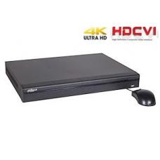 Tribrid įrašymo įrenginys 4kam. HDCVI 4K 8MP 15fps (non-realtime), 4MP/2MP 25fps, 4 + 2 IP iki 5MP