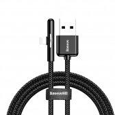 USB kabelis Baseus Mobile Game Lightning 2.4A 1m juodas CAL7C-A01