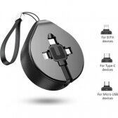 USB kabelis Baseus Waterdrop three-in-one 1.5A 1.5M juodas