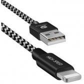 USB kabelis Dux Ducis K-II Pro Lightning FastCharging juodas 1.0m + 0.2m (komplekte du laidai)