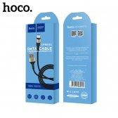 USB kabelis HOCO X26 lightning 1m juodas-auksinis